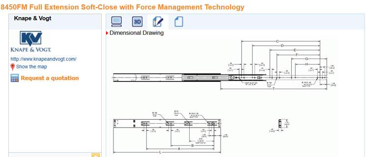 Get 3d cad downloads of kv slides kv knape vogt for 3 dimensional drawing software