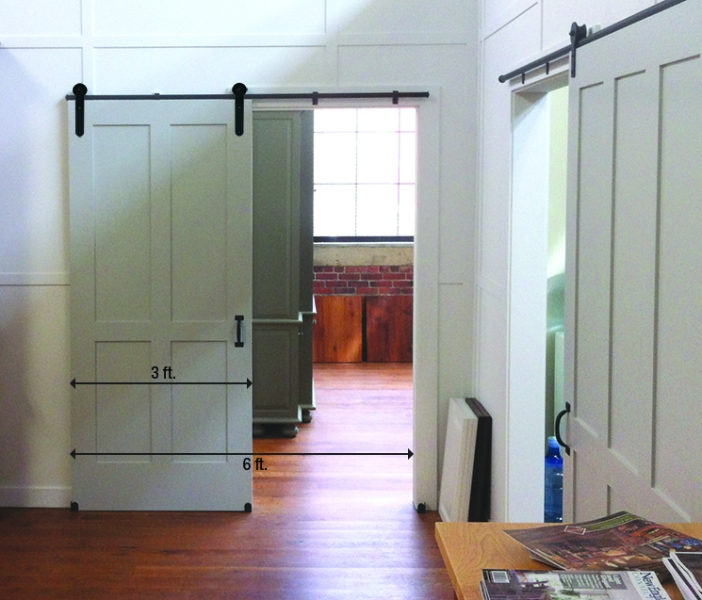 For wider doors cut the track to fit and join the pieces with connectors available from the hardware manufacturer. & 5 things to know before you install that barn door of your dreams ...