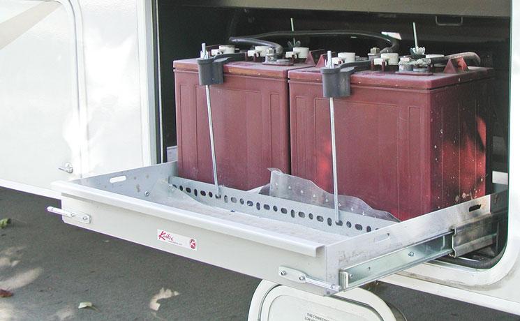 RV cargo storage calls for heavy-duty drawer slides | KV