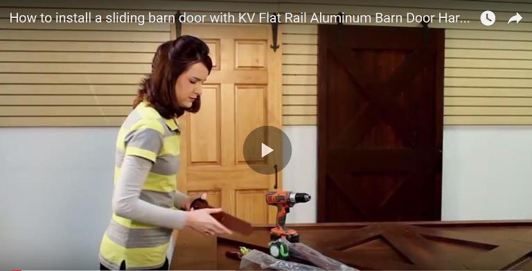 How To Install A Sliding Barn Door Video Kv Knape Vogt