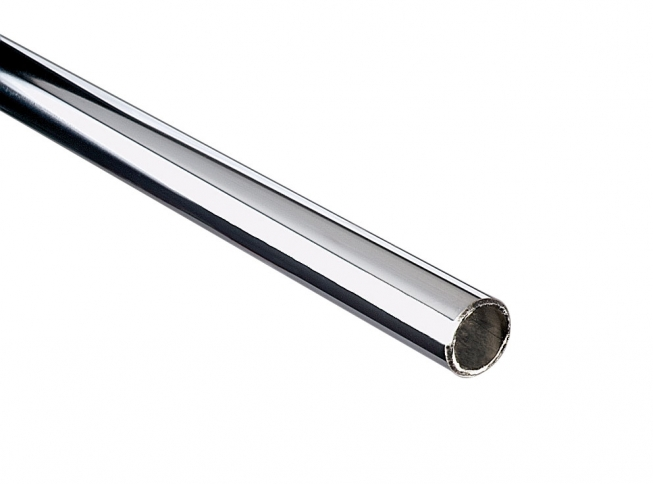 Delightful KV 770 Series Commercial Extra Duty Round Closet Rod , Chrome