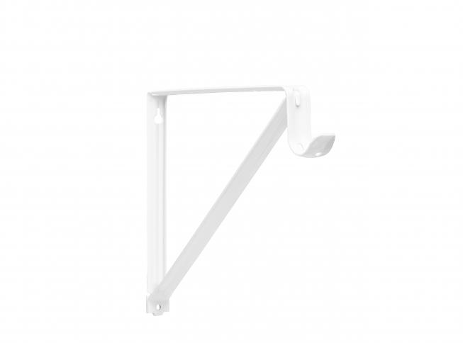 Charming Closet Pro 0045 Heavy Duty Shelf U0026 Rod Bracket, White