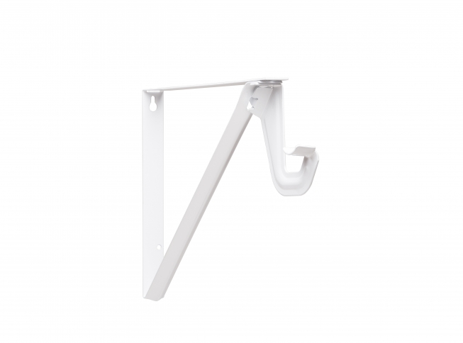 Closet Pro RP 0052 Shelf U0026 Rod Bracket With Slide Thru, White