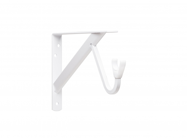 Closet Pro HD 0495 Heavy Duty Shelf U0026 Rod Bracket, White