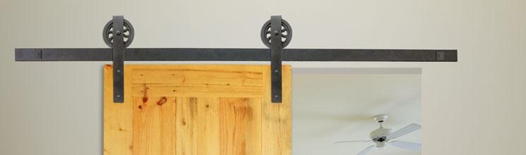 Aluminum Flat Rail Barn Door Hardware Kv Knape Vogt