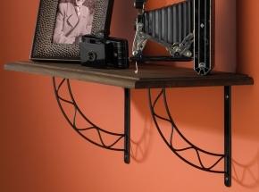 200S-BLK Stockton Decorative Shelf Bracket, Black Finish