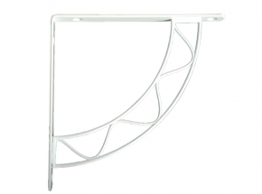 200S-WH Stockton Decorative Shelf Bracket, White Finish