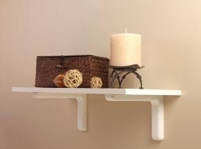 216 Series Simplicity Shelf Bracket, White Finish