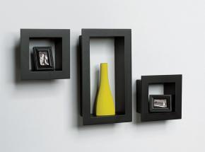 244-BK 3-Piece Frame Shelf Kit, Black Finish