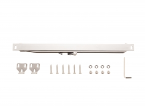 FRSC Soft-close Add-on for Flat Rail Barn Door Hardware, Stainless Steel Finish