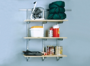 FAST-MOUNT Heavy-Duty Adjustable Shelving System