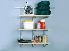 FAST-MOUNT Heavy-Duty Adjustable Shelving System