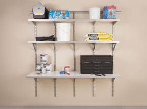 HEAVYWEIGHT Diamond Plate Shelving and Pegboard System Featuring 0220 Diamond Plate Embossed Shelf Edge