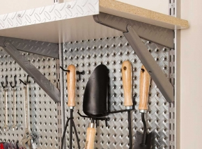 HEAVYWEIGHT Diamond Plate Shelving and Pegboard System