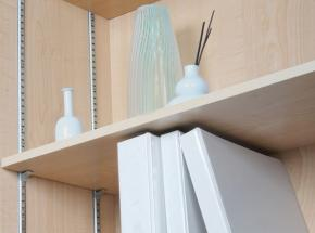 233 Series Steel Surface-Mount Pilaster Shelving System, Bright Zinc