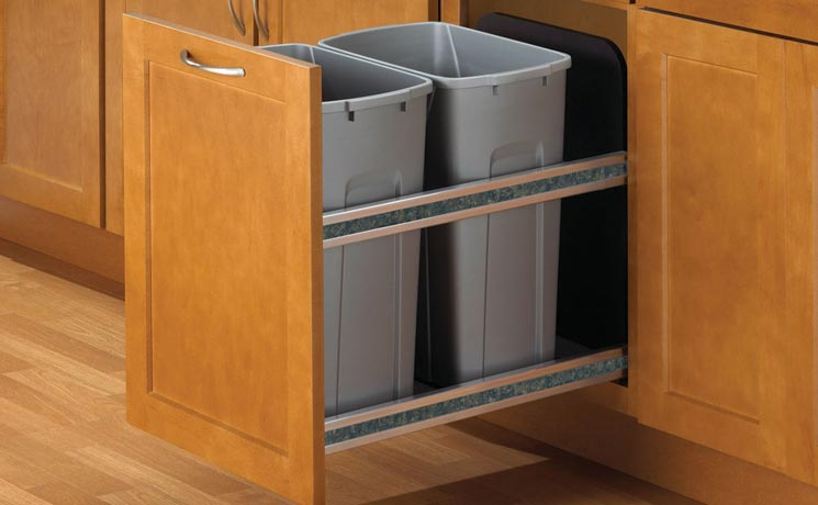 Keeping Your Kitchen Clean 1 0 Kv, Kitchen Cabinet Trash Can Dimensions
