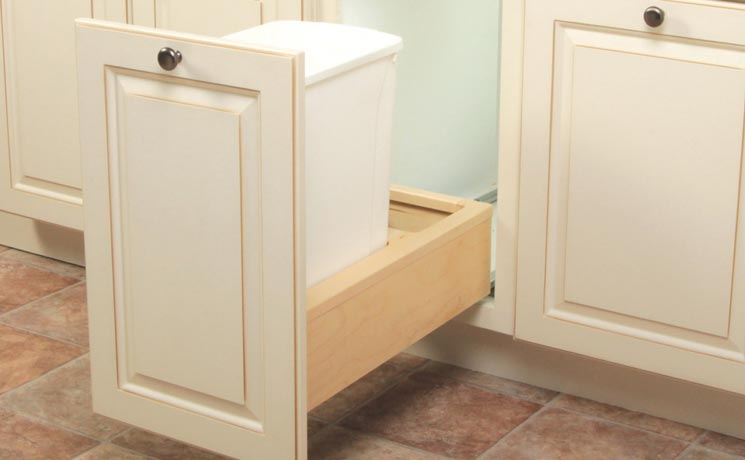 Our Wood Undermount Soft Close Series With Single Or Double Bins In White Platinum Features Color Coordinated Mounting Hardware And Concealed Sliding