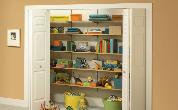 Captivating Adjustable Shelves Are Easy To Install With Only A Few Tools. Just Add  Knape U0026 Vogt Shelf Board* In Any Of Several Different Finishes To Complete  Your ...
